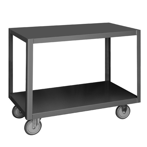 High Deck Portable Table,2 Shelves Durham MFG HMT-3672-2-95