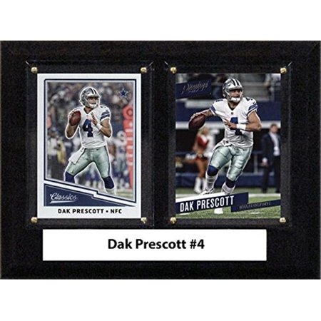 C & I Collectables 68PRESCOTT 6 x 8 in. Dak Prescott NFL Dallas Cowboys Two Card Plaque - Dallas Cowboys Office Supplies