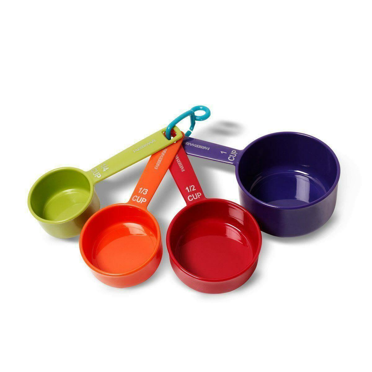 Farberware Professional Plastic Measuring Cups, Assorted Colors, Set of 4 NEW!