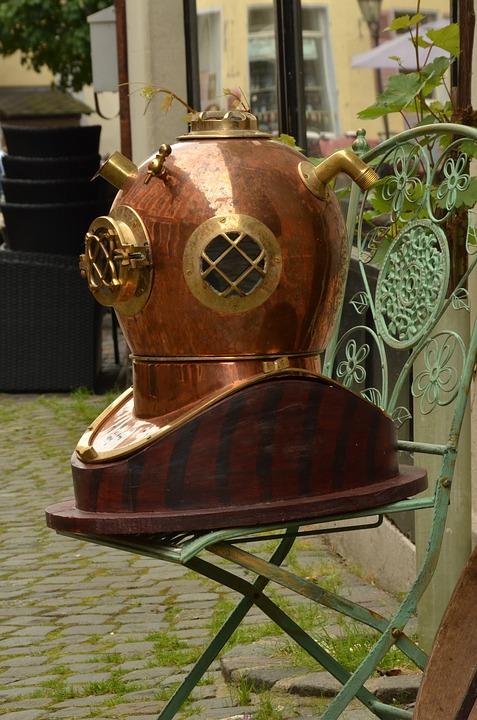 "Dance Club Antique Hanging Lamp 18/"" Diving Helmet Lamp For antique shop Bar"