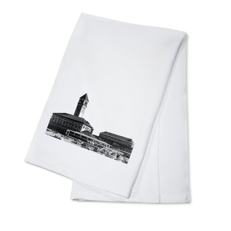 Great Northern Depot - Spokane, Washington - Exterior View of Great Northern and Union Depots (100% Cotton Kitchen Towel)