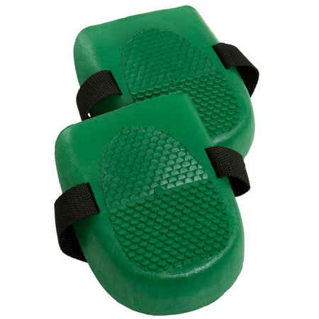 Knee Pads - Adjustable Cushioned Plastic Indoor/Outdoor for Gardening & Construction, Flooring Work, Cleaning & Auto Repair by Pure Garden (One Pair) ()