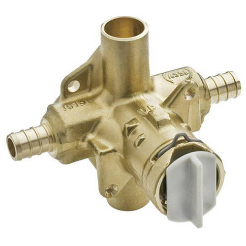 Moen FP62380 1/2 Inch PEX Posi-Temp Pressure Balancing Rough-In Valve and Pre-Installed Flush Plug