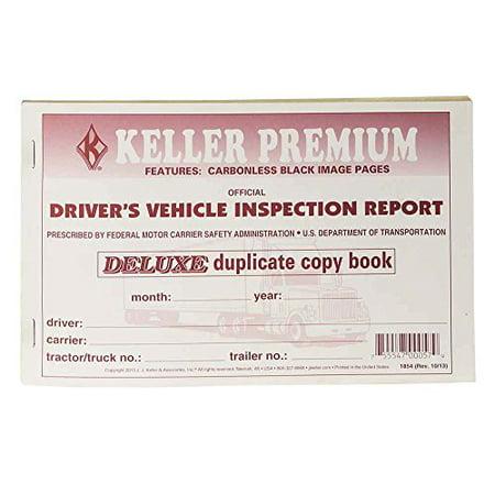 J.J. Keller 1854 Vehicle Inspection Report - Driver's Checklist DVIR (Kellers Keller Halloween)