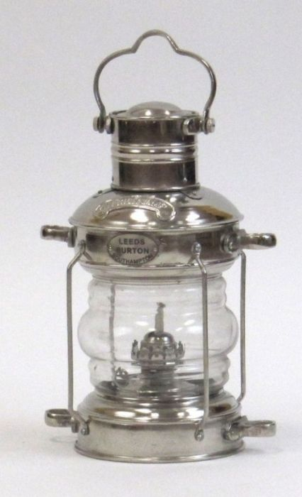 India Overseas Trading AL1524 aluminum Anchor Lamp Oil Lamp by