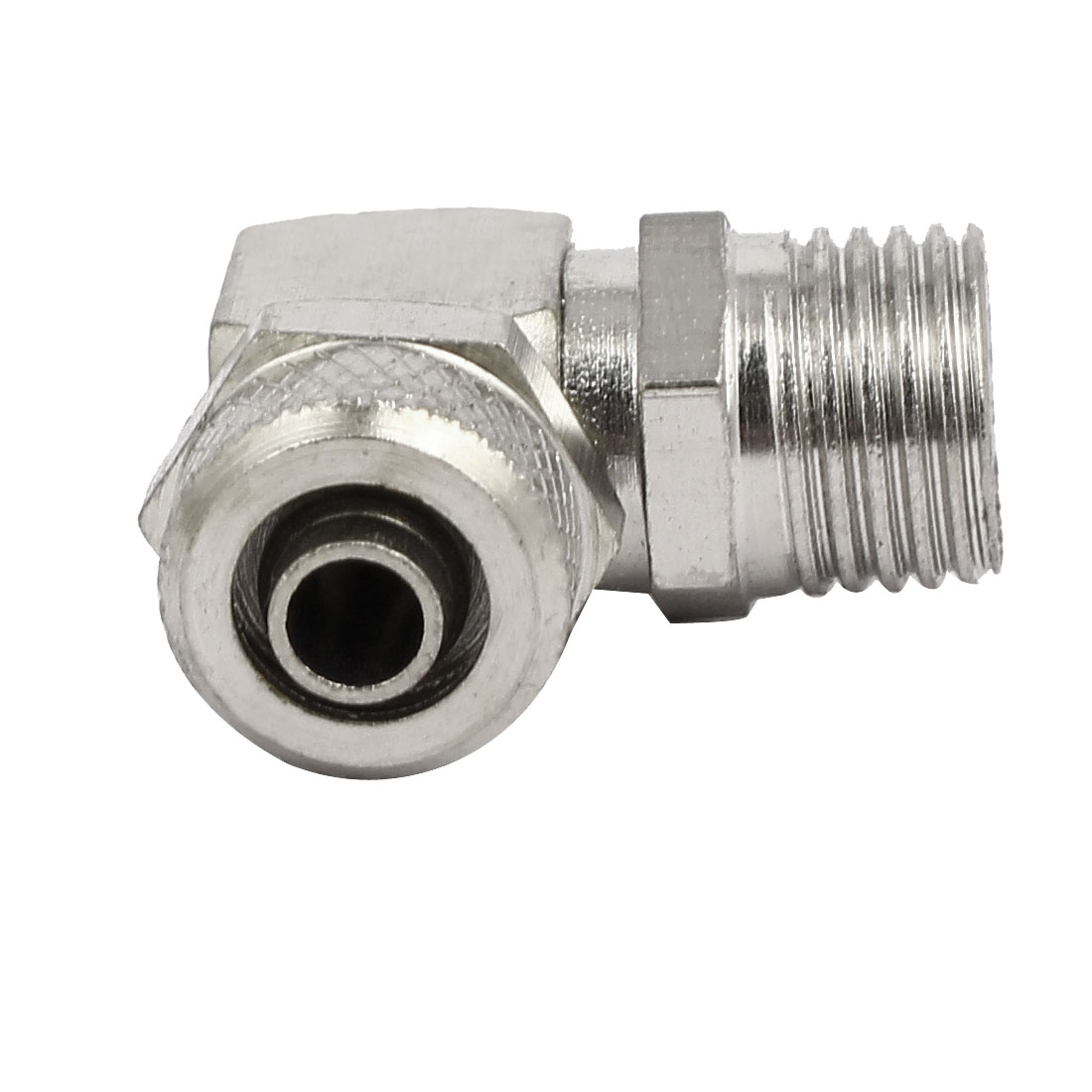 1/4BSP Male Thread L Shaped Pneumatic Air Quick Connecting Coupler 5pcs - image 3 of 4