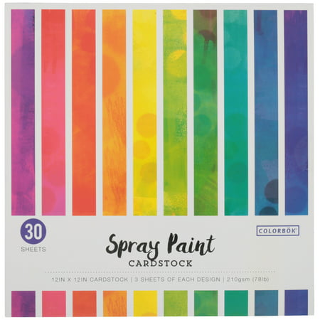 Colorbok Spray Paint Cardstock Craft Paper, 30 Count](Halloween Crafts Using Scrapbook Paper)