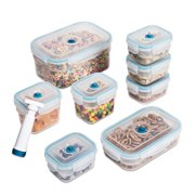 Zevro by Honey Can Do Vac 'n Save 7-Piece Food Storage Set with Pump
