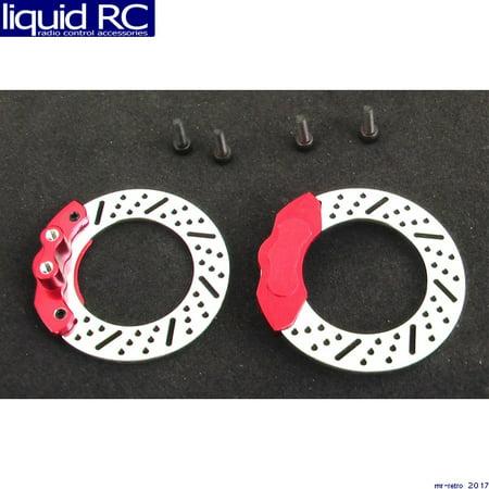 Hot Racing TTS3902 Brake disc Red caliper (2) tts