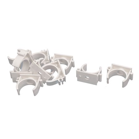 1 Inch Dia PVC U Shaped Pipe Fitting Clamps Clips Water Tube Holder White (Pipe Holder)