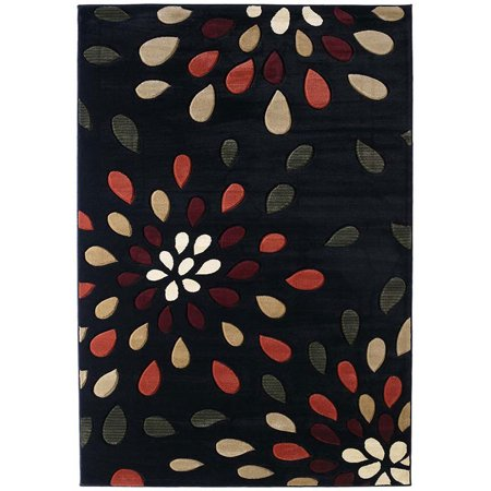 - United Weavers Contours Area Rugs - 510-23176 Contemporary Onyx Tear Drops Water Drops Rug