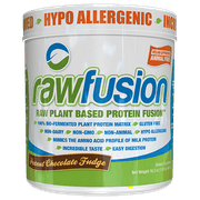 RawFusion Plant-Based Protein Powder, Peanut Chocolate Fudge, 1 Lb 15 Servings