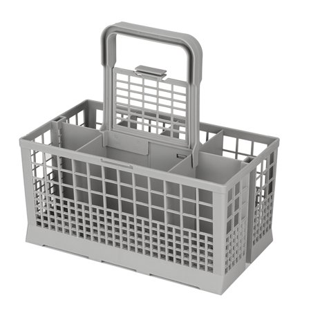 Tebru Universal Multipurpose Dishwasher Part Cutlery Replacement Basket Storage Box Accessory , Dishwasher Box, Universal Dishwasher Cutlery Basket Features:1. Dishwasher basket comes with 8 compartments for your cutleries and other kitchen utensils.2. Great for store and organize silverware for cleaning.3. With a removable handle so it can be easily removed from the dishwasher.4. A universal dishwasher replacement basket, suitable for 99% of full size dishwashers.5. Made of high quality ABS, which is durable and firm to use.6. It is fitfor Kenmore, for Whirlpool, for Maytag, for KitchenAid, for Samsung, for GE, etc.Specification:Item Type: Dishwasher BasketMaterial: ABSSize: Approx. 240 * 135 * 123mm / 9.4 * 5.3 * 4.8inPackage list:1 * Dishwasher Basket1 * Handle