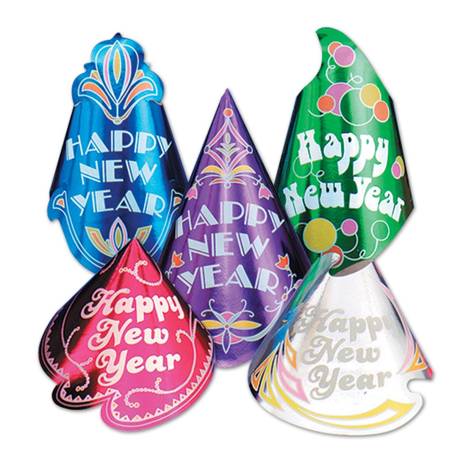 """Club Pack of 50 Champagne """"Happy New Years"""" Legacy Party Favor Hat"""