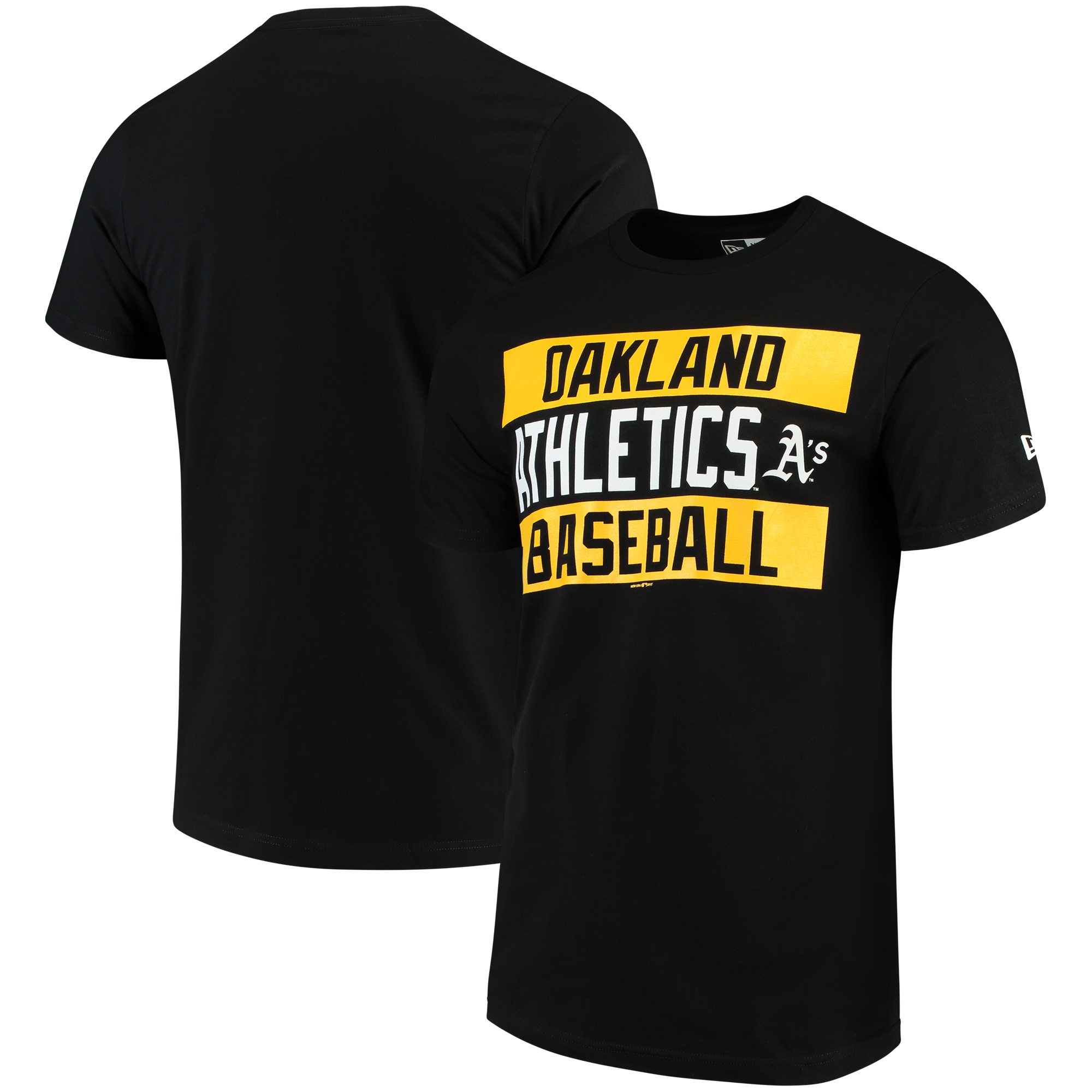 Oakland Athletics New Era Bars Jersey T-Shirt - Black
