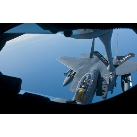 LAMINATED POSTER Members of the 121st Air Refueling Wing refuel an F-15E Strike Eagle from the 4th Fighter Wing at Se Poster Print 24 x -