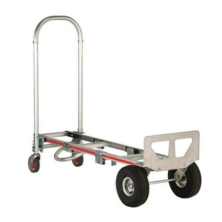 500 lbs Pneumatic Wheels Gemini Senior Convertible Hand Truck 10 in