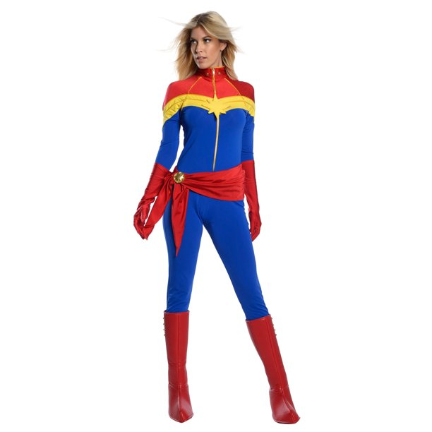 Women S Captain Marvel Premium Costume Walmart Com Walmart Com For a captain america costume, you'd just have to look at posters or comic books for reference on you can find a mator costume in many stores. women s captain marvel premium costume