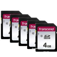 5 X Transcend 4GB Secure Digital SDHC Memory Card