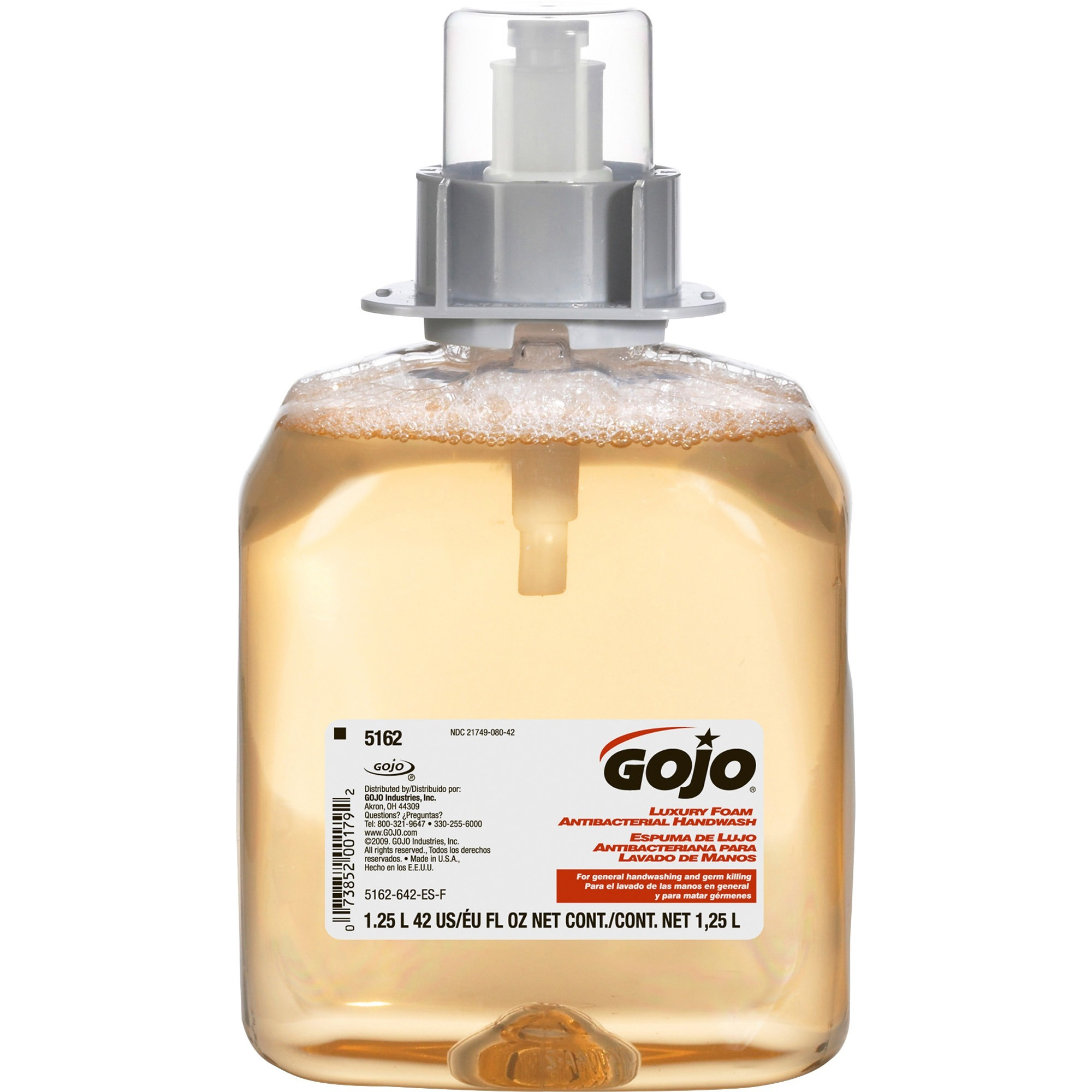 Gojo, GOJ516203CT, FMX-12 Antibact Orange Foaming Soap Refill, 3 / Carton, Orange
