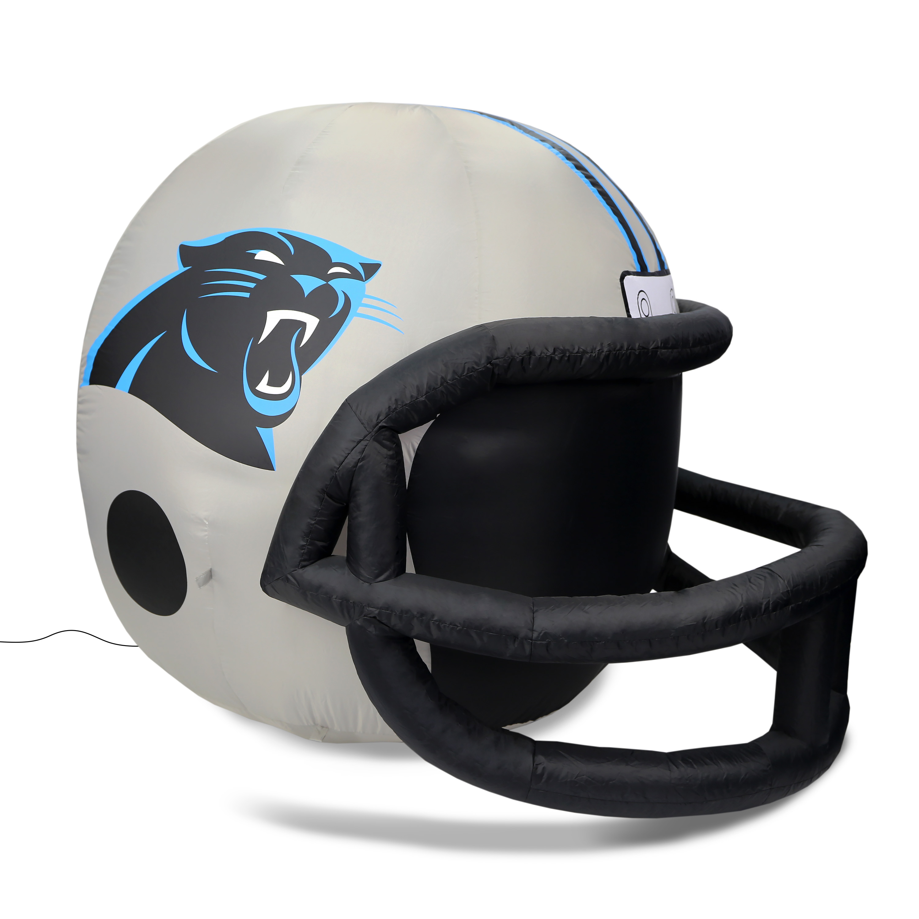 NFL Carolina Panthers Team Inflatable Lawn Helmet, Gray, One Size