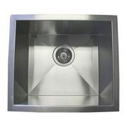 eModern Decor 17'' L x 15'' W Single Bowl Undermount Kitchen Sink