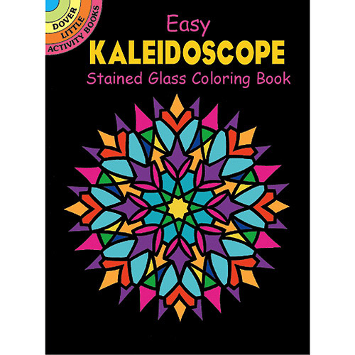 Dover Publications Kaleidoscope Stained Glass Book