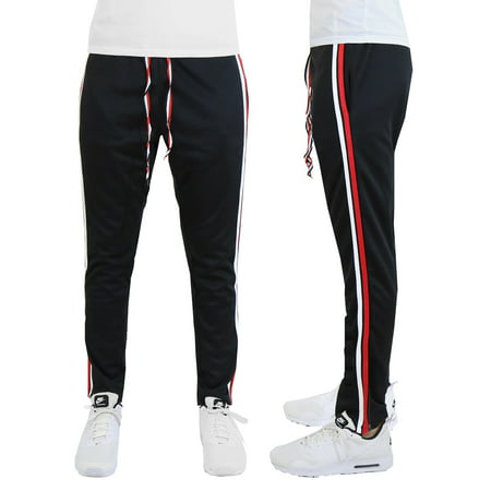 Mens Striped Jogger Track Pants - Running - Jogging - Workout - Fitness