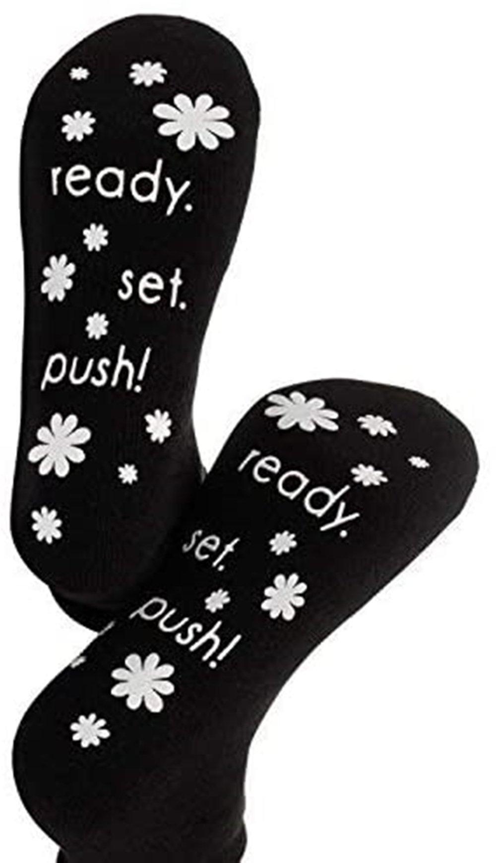 Labor and Delivery Non Slip Socks for Women Inspiration Hospital Funny Socks for Maternity Pregnancy