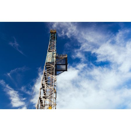 Low Angle View Of An Oil Drilling Platform Parker Drilling Rig 114 Elk City Beckham County Oklahoma Usa Canvas Art   Panoramic Images  18 X 24
