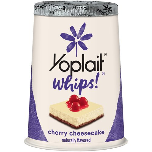 Yoplait? Whips!? Cherry Cheesecake Flavored Lowfat Yogurt Mousse 4 oz. Cup