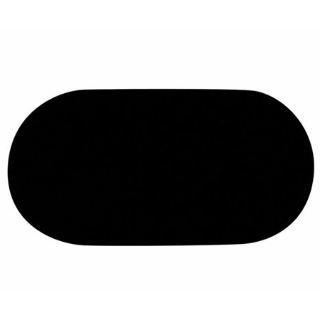 Velvet Pad Tray Insert (5'' x 9'' Small Oval Jewelry Black Velvet Padded Pad Display Insert Tray Jeweler )