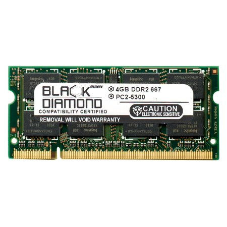 4GB RAM Memory for Dell XPS Laptop m1330, M1730 Black Diamond Memory Module DDR2 SO-DIMM 200pin PC2-5300 667MHz Upgrade