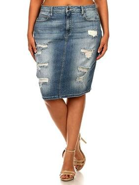 e1b7e8d671dc5 Product Image Jack David Blue Sexy Womens Plus Size Stretch Denim Jeans  Skirt Modern Series