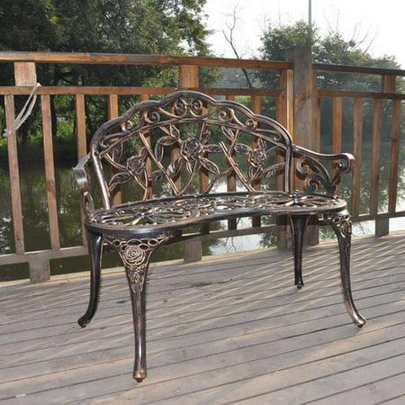 Ubesgoo Iron Outdoor Park Patio Bench Leisure Rose Doble Chair
