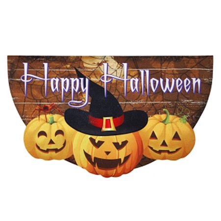 Decorative Happy Halloween Welcome Mat - By Ganz - Halloween Welcome Mat