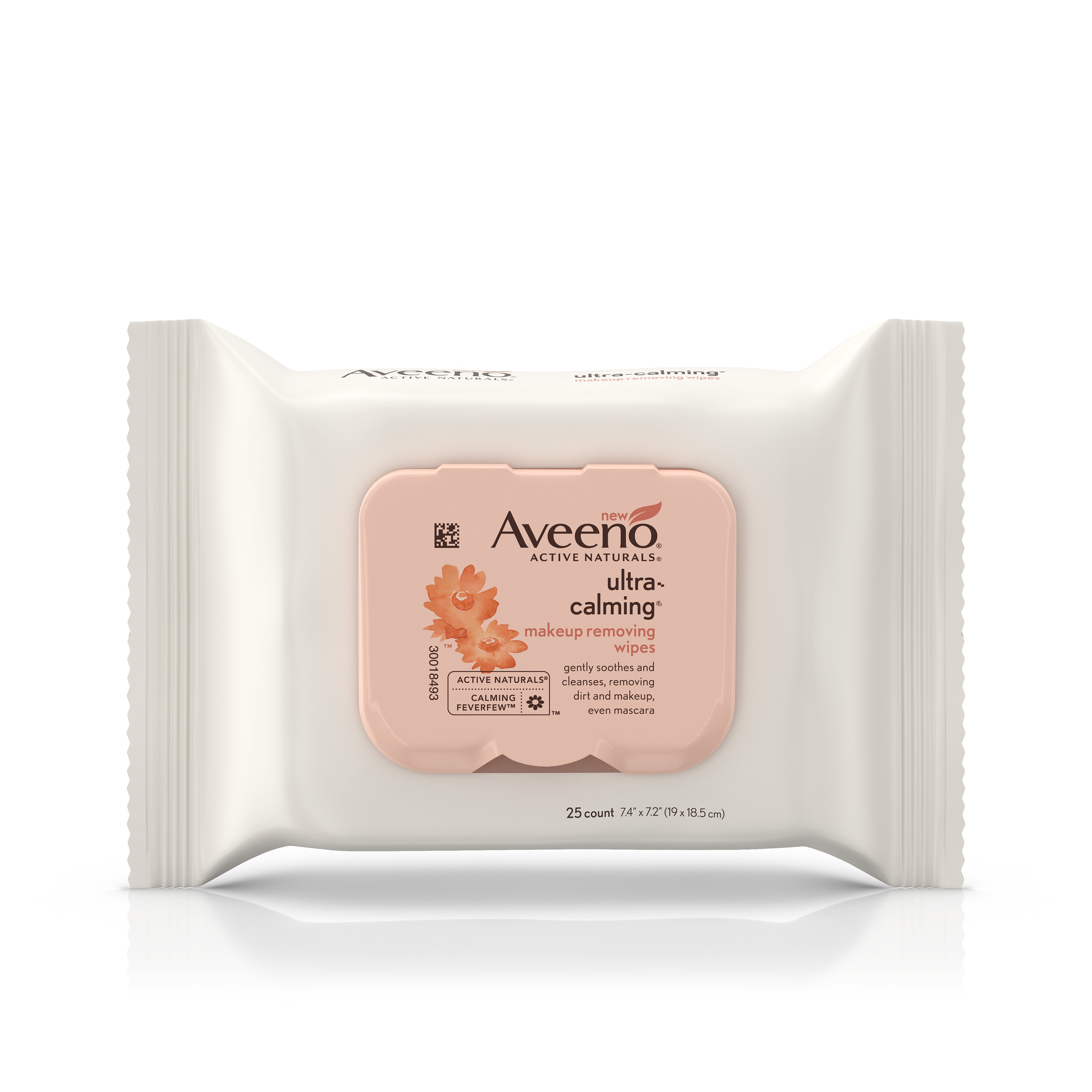 Aveeno Ultra-Calming Sensitive Skin Makeup Removing Wipes, 25 Count