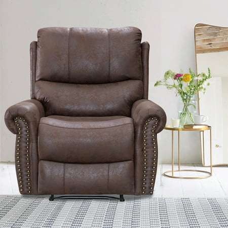 Recliner Chair Reclining Recliner Sofa Couch Sofa Leather Home Theater Seating Manual Recliner Motion For Living Room