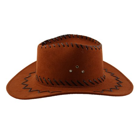 6da3ea13ce5 Adult Adjustable Neck Strap Wide Brim Western Style Sunhat Cowboy ...