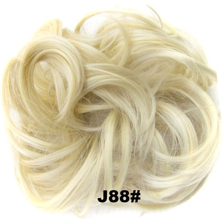 TKOOFN Natural Curly Messy Bun Hair Piece Scrunchies Updo Cover Hair Extensions