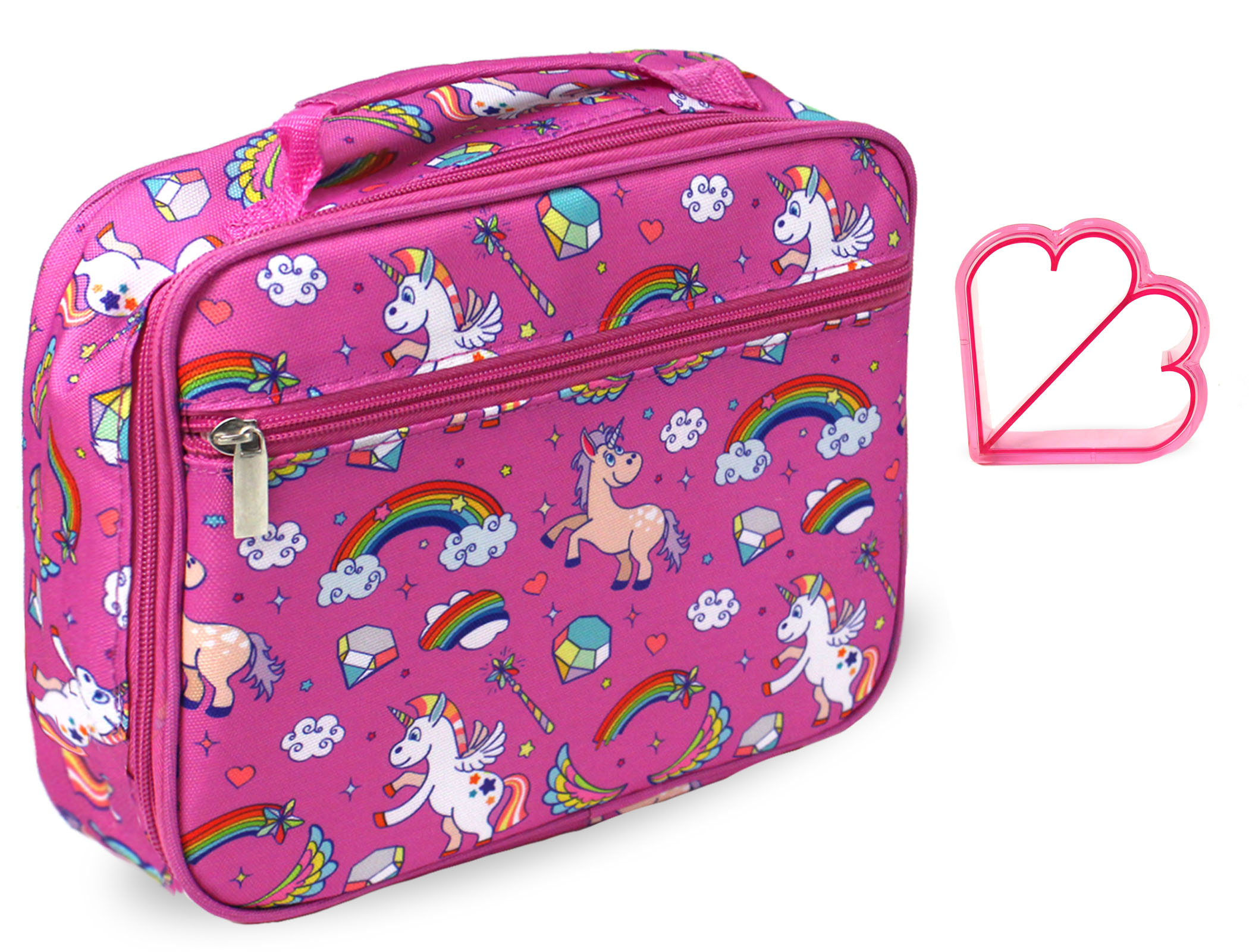 Cute Crazy Party Unicorn Travel Suitcase Protector Zipper Suitcase Cover Elastic