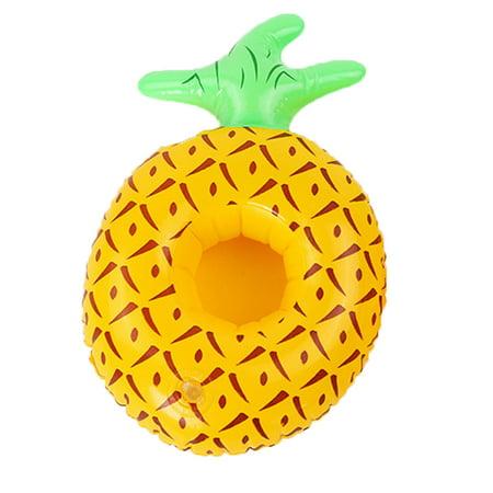 Pool Fruit Shape Inflatable Drink Cup Holders Watermelon Pineapple Lemon Floatable Coasters