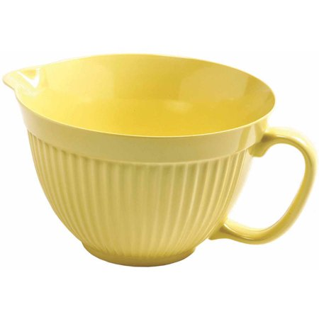 Norpro 4 qt Lemon Yellow Grip EZ Mixing (Yellow Kitchen Bowl)