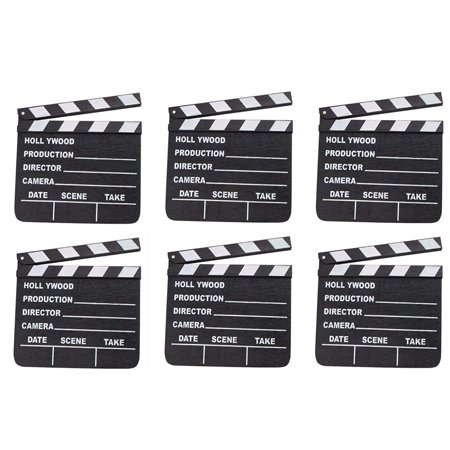 LOT OF 6 HOLLYWOOD CLAPPERS MOVIE CLAPBOARD CLAPPERBOARD WHOLESALE BY DISCOUNT PARTY AND NOVELTY, LOT OF 6 HOLLYWOOD CLAPPERS MOVIE CLAPBOARD By Rhode Island Novelty