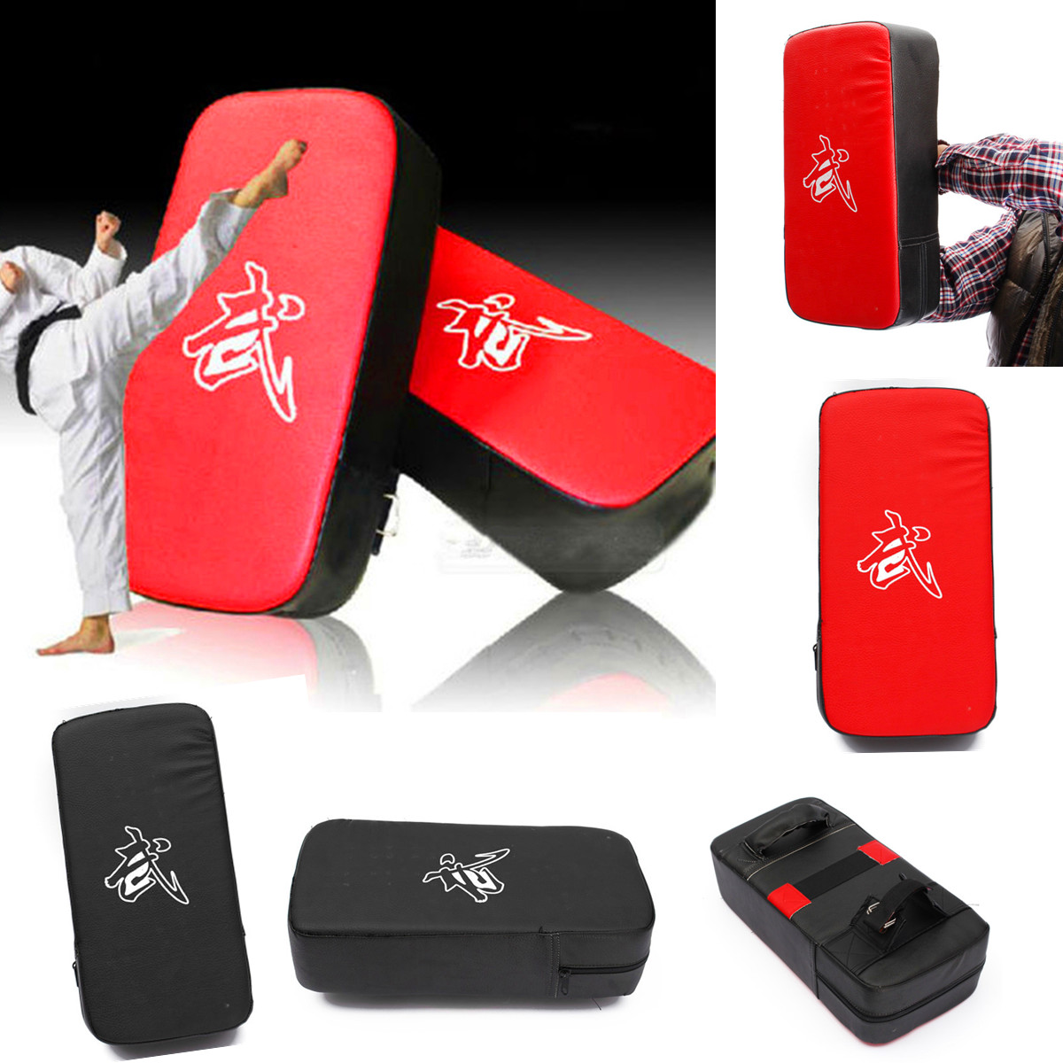 BDBoxing Pad Kick Boxing Strike Curve Pads Muay MMA Boxing Taekwondo Foot Target