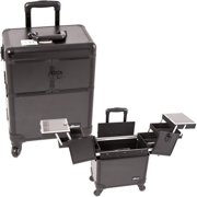 Sunrise E6304PPAB All Black Rolling Beauty Case - E6304