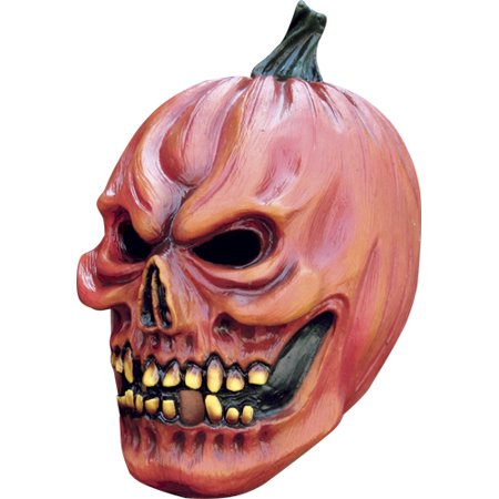 Demon Pumpkin Horror Adult Mask for Scary Costume - Pumpkin Mask Printable Halloween