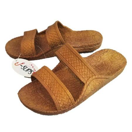 Sandals Big Feet (Sand J-slips Hawaiian Jesus Sandals / Jandals 4 colors, Big Kids 3/4)