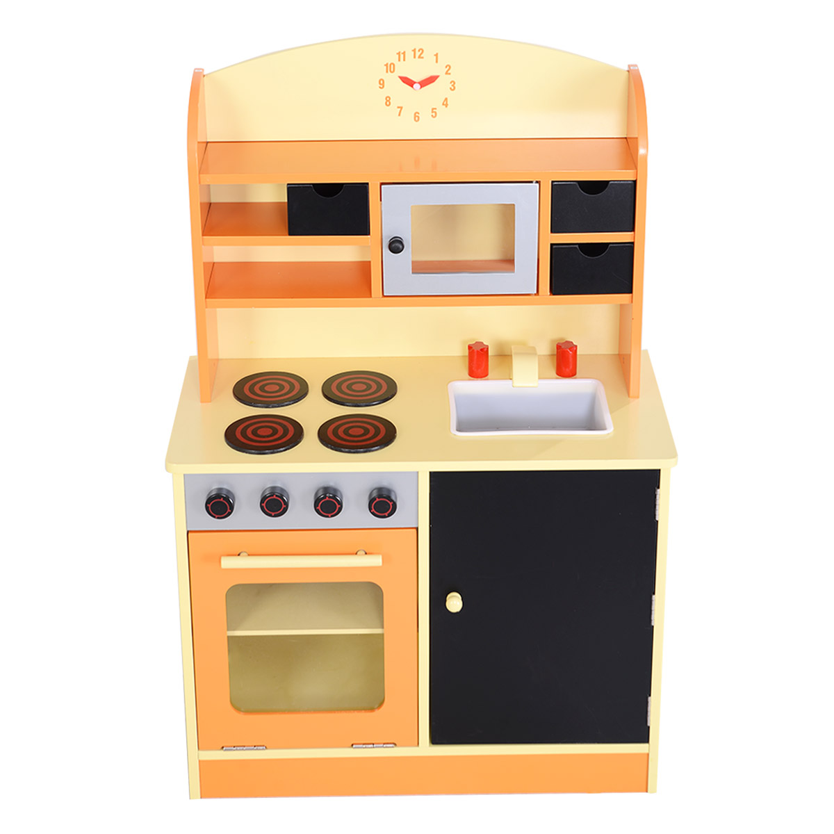 Elegant Costway Wood Kitchen Toy Kids Cooking Pretend Play Set Toddler Wooden  Playset   Walmart.com