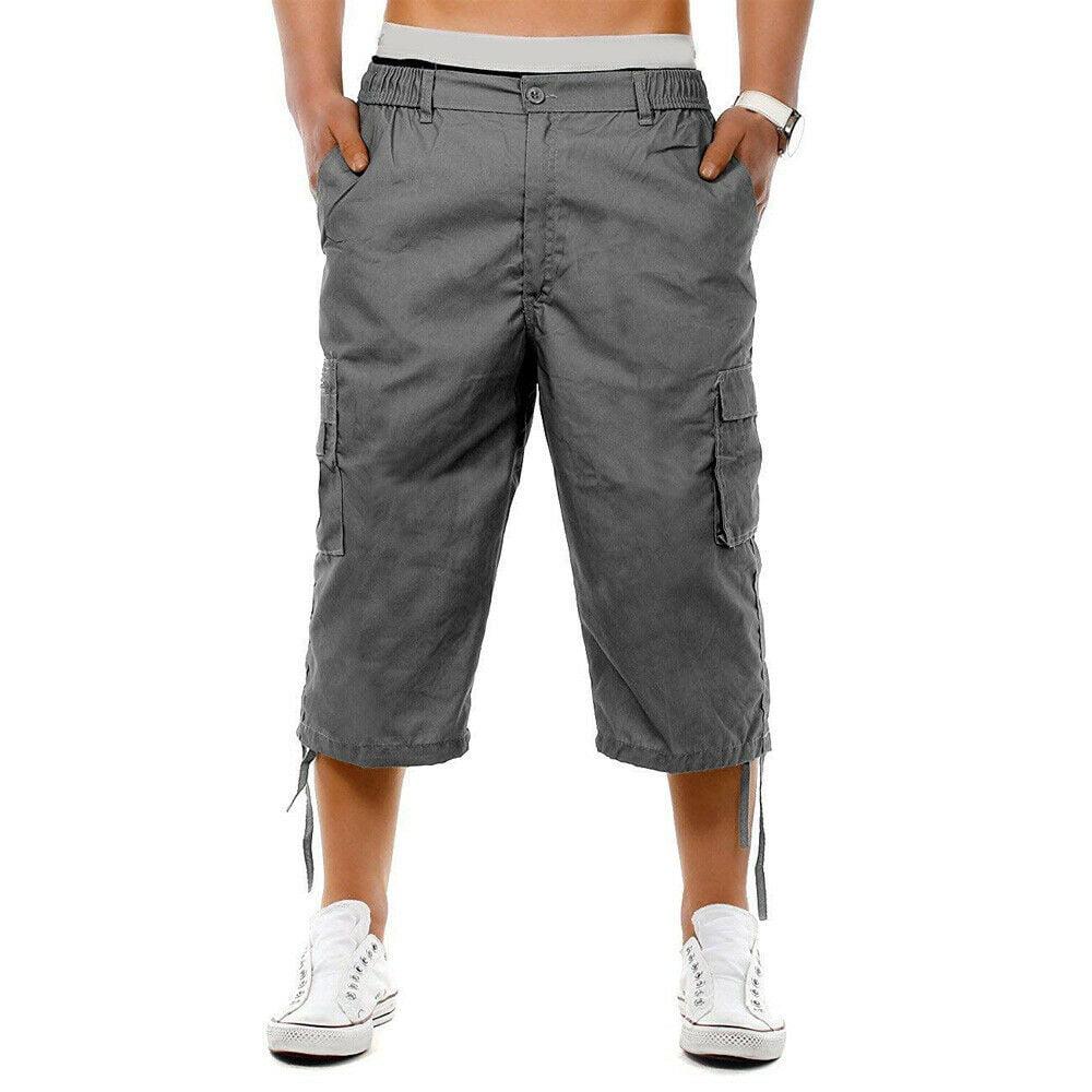 Men/'s Bermuda Shorts Capri Pants Youth Sports Fitness 3//4 Summer Women/'s New